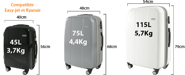 taille valise voyage