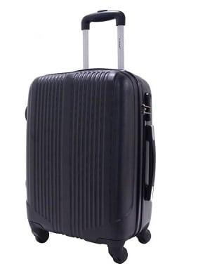 valise cabine pas cher 55cm trolley alistair airo ultra leger 4 roues noir
