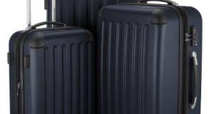 HAUPTSTADTKOFFER - Spree - Ensemble de 3 Valises Rigides Noir mat, TSA, (S, M & L), 259 litres