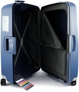 valise samsonite sans fermeture éclair
